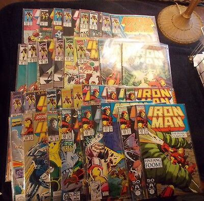Iron Man Lot: 50 books, New Old Stock, White Pages