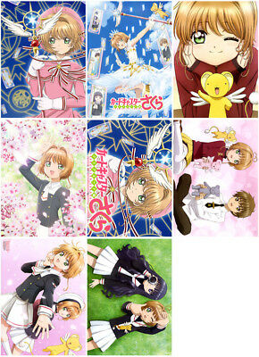 8pc Card Captor Sakura CLEAR CARD Mirror Surface Postcard Promo Card Collector A