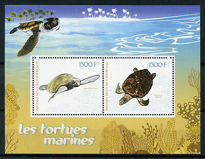 Ivory Coast 2017 MNH Sea Turtles 2v M/S Tortues Marine Reptiles Stamps