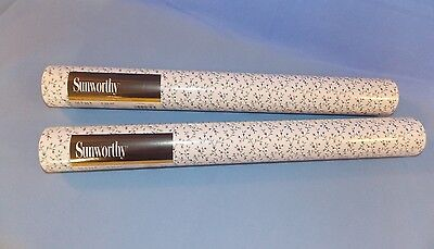 Sunworthy Wallpaper Petite Floral Design Prepasted Double Roll Lot of 2 Rolls