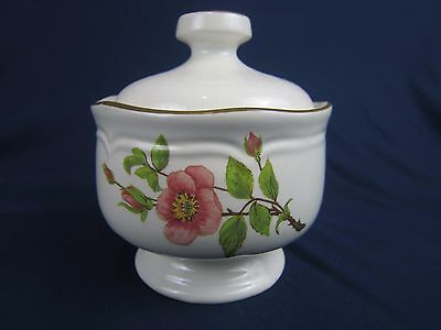Vintage Sugar Bowl Sangostone Pink Blossom Korea Kitchen Accessory