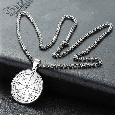 Seal Of Solomon Pentacle Jupiter Star David Kabbalah Hermetic Pendant Necklace