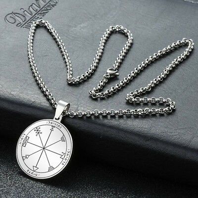 Pentacle Jupiter Seal Solomon Key Star David Kabbalah Hermetic Pendant Necklace