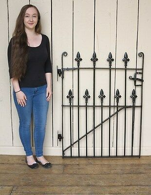 Victorian Wrought Iron Pedestrian Gate with Hinges - Antique