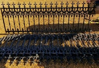 Architectural Wrought Iron Fence With Gate Rare 146 Feet Approx Antique Vintage