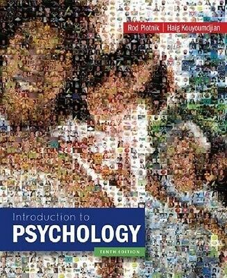 Introduction to Psychology by Plotnik 10th International Softcover Ed Same Book