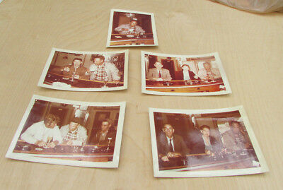 Lot of 5 Vintage 1950s Old Bar Photos Flackers Bar on the Causeway to LBI NJ