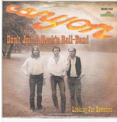 """7"""" - CANYON - DON`T JOIN A ROCK `N` ROLL BAND - german PS"""