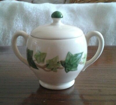 Franciscan Ivy Sugar Bowl w/ Lid Made in California 1954-1958 Mark Gorgeous Mint