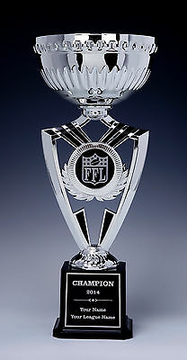 Fantasy Football Silver Cup EXTRA LARGE Award Trophy Engraved