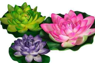 Floating Fabric Colorful Water Lilies 3 Pack Pond Decor, Pond Shade & Scenery