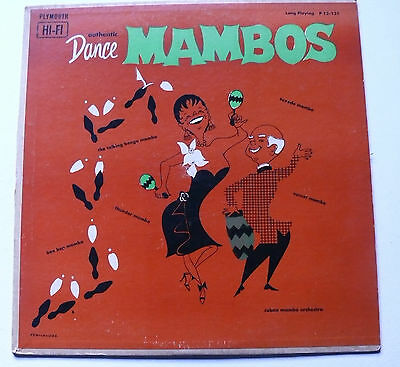 Authentic Dance Mambos Cuban Mambo Orchestra Davila Plymouth LP P 12-131 Vinyl