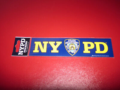 1 x 15 cm  NYPD New York Police Department Sticker Aufkleber Polizei