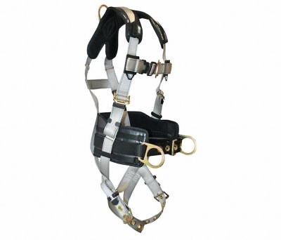 Falltech Titanium Full Body Harness with 310 lb. Weight Capacity, Silver, L/XL