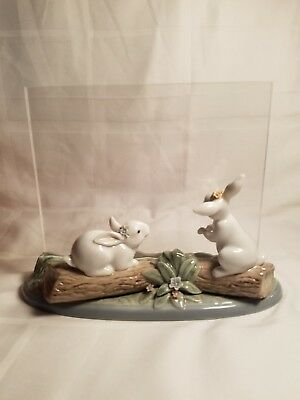 LLADRO #6605  Landscape Picture Frame with Rabbit Bunnies