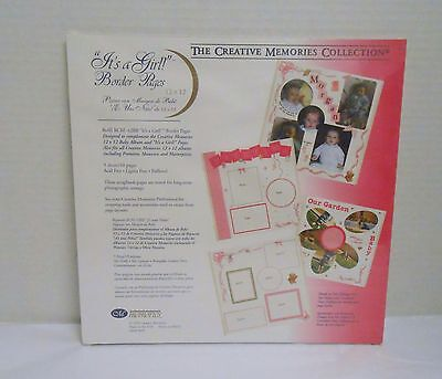 """Creative Memories """"It's A Girl!"""" 12"""" x 12"""" RCM-12BB 5 Sheets/10 Border Pages NIP"""