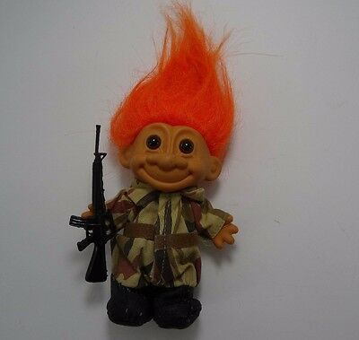 Russ Troll Doll Military Camouflage Army with gun