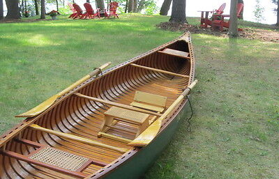 1969 Old Town Guide Model Canoe 20' wood canvas Nice professional Restoration
