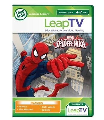 LeapFrog LeapTV Ultimate Spider-Man Educational, Active Video Game OPEN PACKAGE