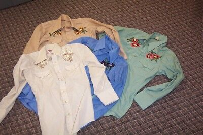 Lot of 4 Vintage Men's Western Chute Shirts size large