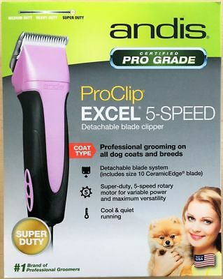 New Andis EasyClip Pro-Animal 5-Speed Detachable Blade Clipper Kit,Pet Grooming