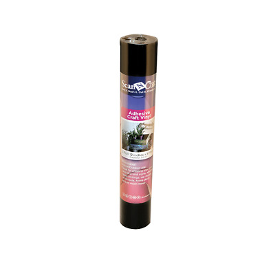Black Adhesive Craft Vinyl for ScanNCut - 1 Roll | 12inches x 6 feet