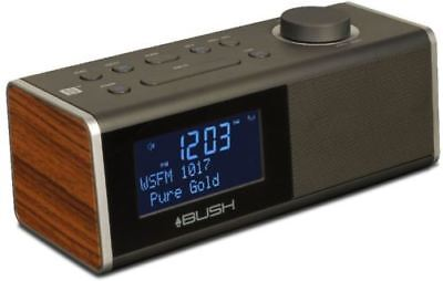 BUSH BCR40DABT WD DAB CLOCK RADIO WITH USB CHARGE Refurbished-Good condition
