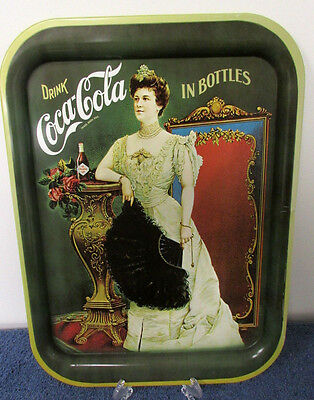 Collectible Metal Serving Tray COCA COLA 1968 Lillian Russell Rectangular VV58