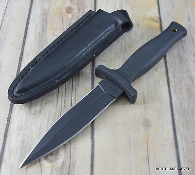 9 Inch Schrade Large Fixed Blade Boot Knife Double Edge With Leather Sheath