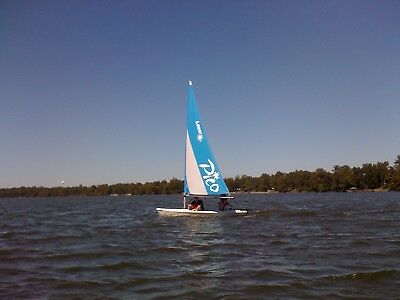 Laser Pico Sailboat with Right On Trailer System