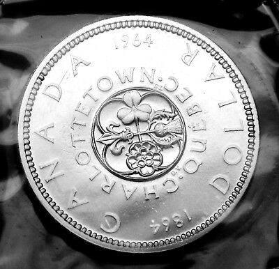 1964 Canadian silver $1 coin:  gorgeous prooflike in original mint plio #2