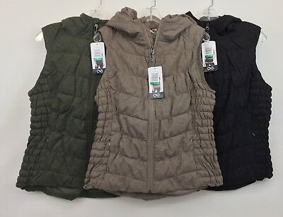 New Be By Blanc Noir Women's Hooded Full Zip Vest Variety L XL