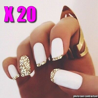 ❤ White Tips ❤ Lot Capsules Faux French Ongles Blanc Américain Nail Art Manucure