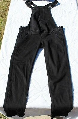 H&M Mama &Denim Maternity Black Overalls Size 6