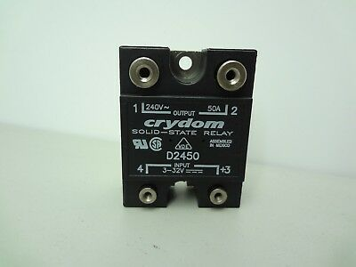 Crydom D2450 Solid State Relay Tested  Normally Open  240 V AC 50A
