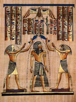 Annointng by the Gods - Classic Image from the Religion of Ancient Egypt