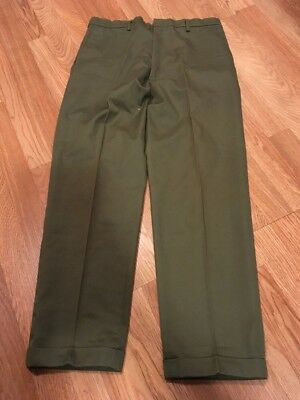 Vintage 1960's Montgomery Powr House Work Chino Pants Trousers 34x28