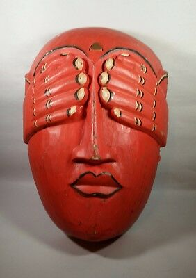 """Traditional Wooden Balinese mask """"SEE NO EVIL"""""""