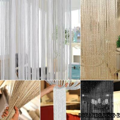 6 Color Beaded String Door Curtain Fly Screen Panel Room Divider Window Tassel