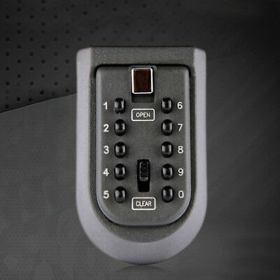Durable Key Hider Box Mechanical Password Security Secret Code Lock Wall Mounted