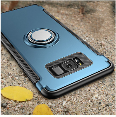 For Samsung Galaxy Note 8 S7 S8 Case Cover Luxury Magnetic Kickstand Ring Holder
