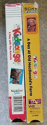 Kidsongs VHS LOT 2 - A Day With the Animals - A Day at Old McDonald's Farm