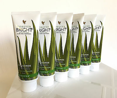 6 tubes of Forever  BRIGHT TOOTHGEL (Aloe Vera & Bee Propolis) .KOSHER Exp.2023