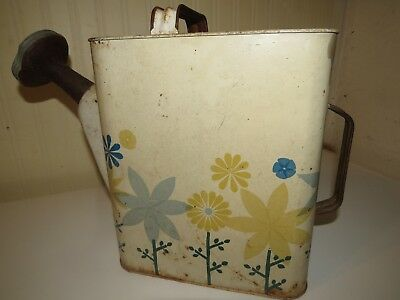 RARE Antique Watering Can HAN-D SPRINKL CAN Chicago, ILL Edward Industries Tole
