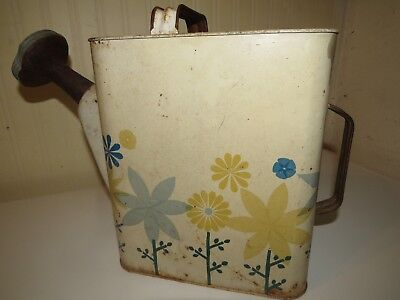 RARE Antique Watering Can Rustic Tole Metal Art Vintage County Cabin Decor