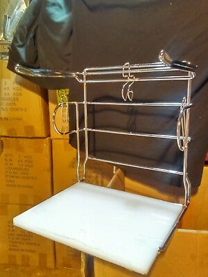 New T-Shirt Bagging Stand Rack Holder In Chrome Finish