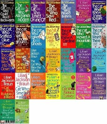 30 Audiobooks – The Cat Who… series by Lilian Jackson  MP3-DVD