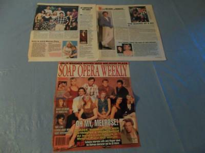 Melrose place cast Heather Locklear Jack Wagner Grant Show  clipping  #46