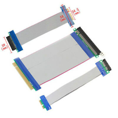 20CM PCI-E 1X 4X 8X 16X Express Riser Card Extender Extension Adapter Cable KF