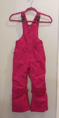 New Lands End Squall Snow Pants Bib Girls Size 6 in Deep Pink NWOT - SHIPS FAST